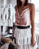 Backless Metal Halter Suspenders Tops