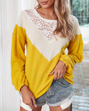 Lace Net Yarn Hollow Out Knit Sweater Tops