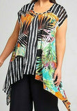TS Taking Shape Colourful Double Layer Riverina Mood Tunic Size S or 16/18