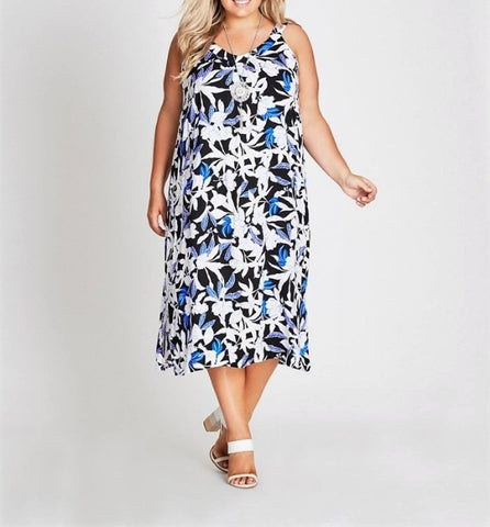 Plus Size Autograph Floral Viscose Midi Dress
