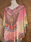 Relax Fit Sheer Embellished Kaftan Top One Size 14 to 20