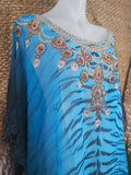 Sheer Relax Fit Embellished Kaftan One Size 18 to 24
