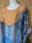 Plus Size Sheer Relax Fit Embellished Kaftan One Size 18 to 24