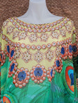 Plus Size Sheer Relax Fit Hippy Bohemian Boho Embellished Kaftan/Tunic One Size Fits All 18 to 24