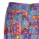 Plus Size Paisley Relax Pants With Elastic Waist Size 16