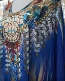 Plus Size Sheer Chiffon Embellished Kaftan One Size Fits All 12 to 22