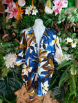 Relax Fit Bohemian Floral Rayon Kimono Jacket Dolman Sleeve One Size Fits All 16 to 20