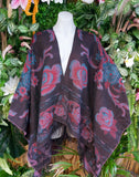 Floral Tassel Wool & Acrylic Cape One Size 16 to 20