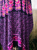 Plus Size Paisley Bright Relax Fit Rayon Long Kimono/Jacket One Size Fits All 12 to 22