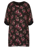 Plus Size Autograph Floral Tulip Sleeve 2 Layer Dress Size 16