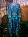 Plus Size Mix Maxi Long Sheer Embellished Kaftan One Size Fits All 16 to 20