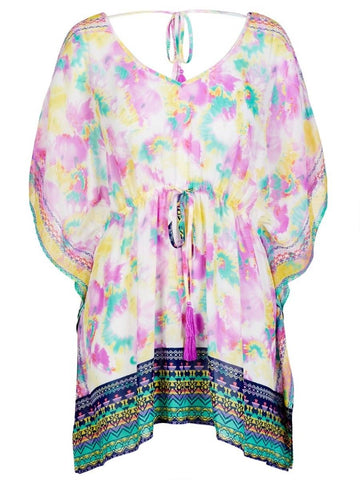 Crossroads Sheer Ladies Relax Fitting Pastel Kaftan/Tunic One Size Fits All 16 to 18