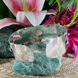 Scolecite Inner Peace Bangle Bracelet (B131)