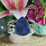 Sodalite Intuition Gemstone Bangle Bracelet  (B138)