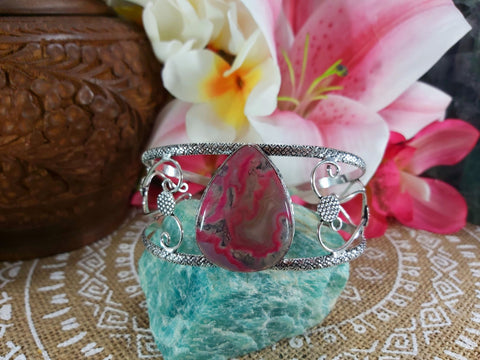 Moss Agate Inner Peace Gemstone Bangle (B46)