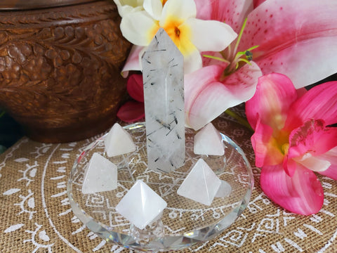 Spiritual Grounding & Clarity Crystal Grid-7 Crystals (#9)