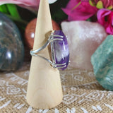 Amethyst Soul Star Protection Ring Size US 8 (E1116)