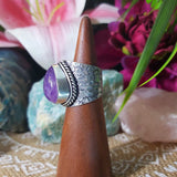 Amethyst Soul Star Protection Ring Size US 6.5 (E1315)