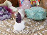Charoite Spiritual Path Ring 925 Sterling Silver Plated Size US 9 (E459)