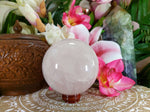Rose Quartz Crystal 1393 gms With Stand (GEM58)