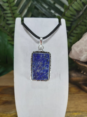 Lapis Lazuli Pendant 925 Sterling Silver Plated (JPLL14)
