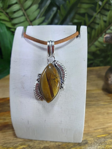 Tiger Eye Manifestation Pendant (JPTE11)