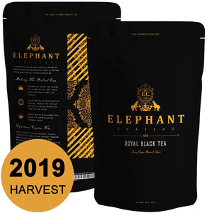 Royal Black Tea | 50 Cups | Delicious Iced & Hot Tea | Extra Special Ceylon Loose Leaf | English Breakfast & Afternoon Teatime | Naturally Aromatic Leaves in Bulk Bag | Plain Unsweet Organic Teas