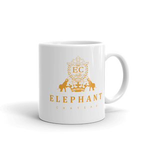 Perfect Coffee & Tea Mug | Gold & White Color | Ceramic Dishwasher & Microwave Safe | Home & Kitchenwares | Elephant Chateau