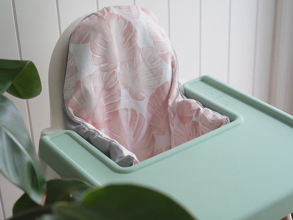 Load and play video in Gallery viewer, Silt Green IKEA Highchair Covered Placemat