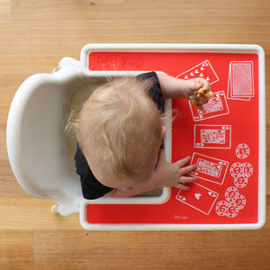 Load image into Gallery viewer, Little Puku Poker Face IKEA Highchair Placemat