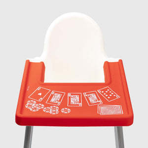 Little Puku Poker Face IKEA Highchair Covered Placemat