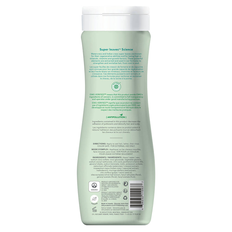 ATTITUDE Super leaves™ Shampoo Nourishing & Strengthening Restores and strengthens dry and damaged hair _en?_back?