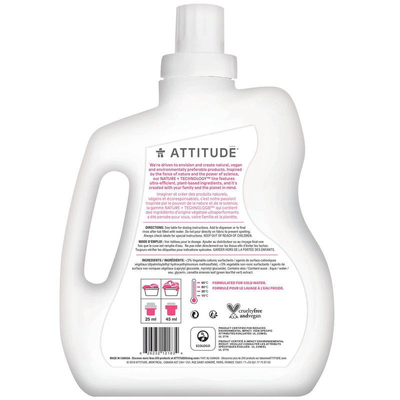 ATTITUDE Nature+ Baby Fabric Softener Fragrance-free back of the bottle_en?_hover?