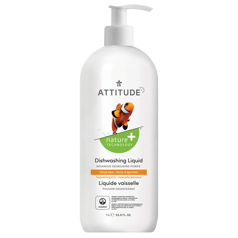 ATTITUDE Nature+ Dishwashing Liquid Citrus Zest _en?_main?