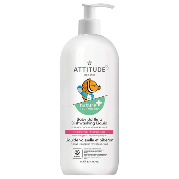 ATTITUDE Nature+ Baby Dish Soap Baby Dish Liquid  Fragrance free_en?_main?