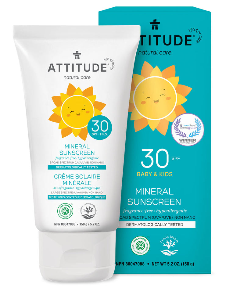 ATTITUDE Fragrance-free Kids Mineral Sunscreen SPF 30 5.2 OZ _en?_main?