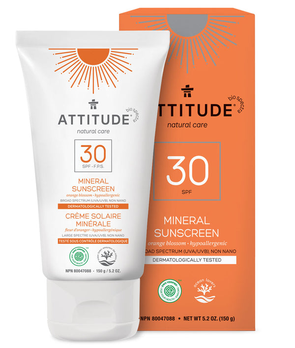 ATTITUDE Orange Blossom Mineral Sunscreen SPF 30 5.2 OZ _en?_main?