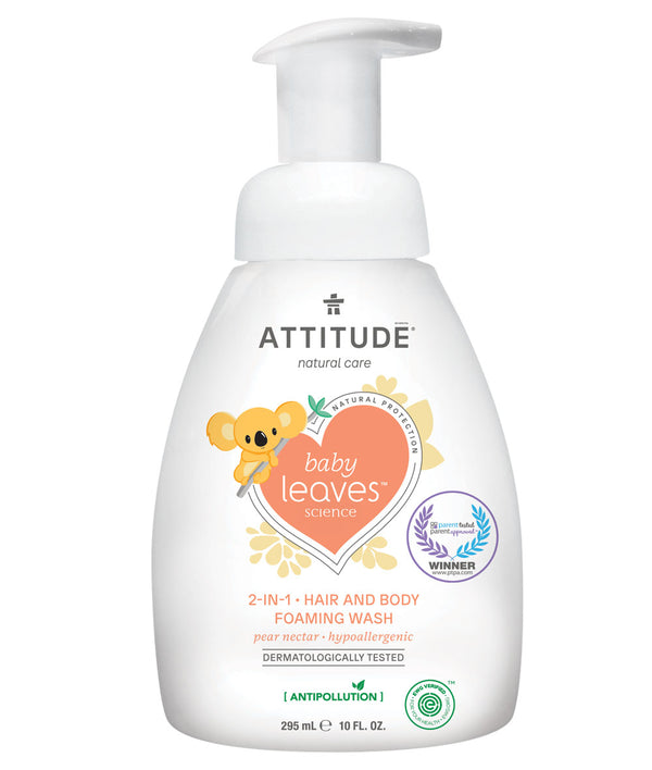 ATTITUDE baby leaves™ 2-in-1 Hair and Body Foaming Wash Pear Nectar _en?_main?