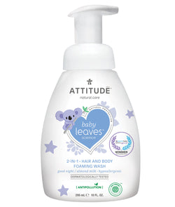 ATTITUDE baby leaves™ 2-in-1 Hair and Body Foaming Wash Almond Milk _en?_main?