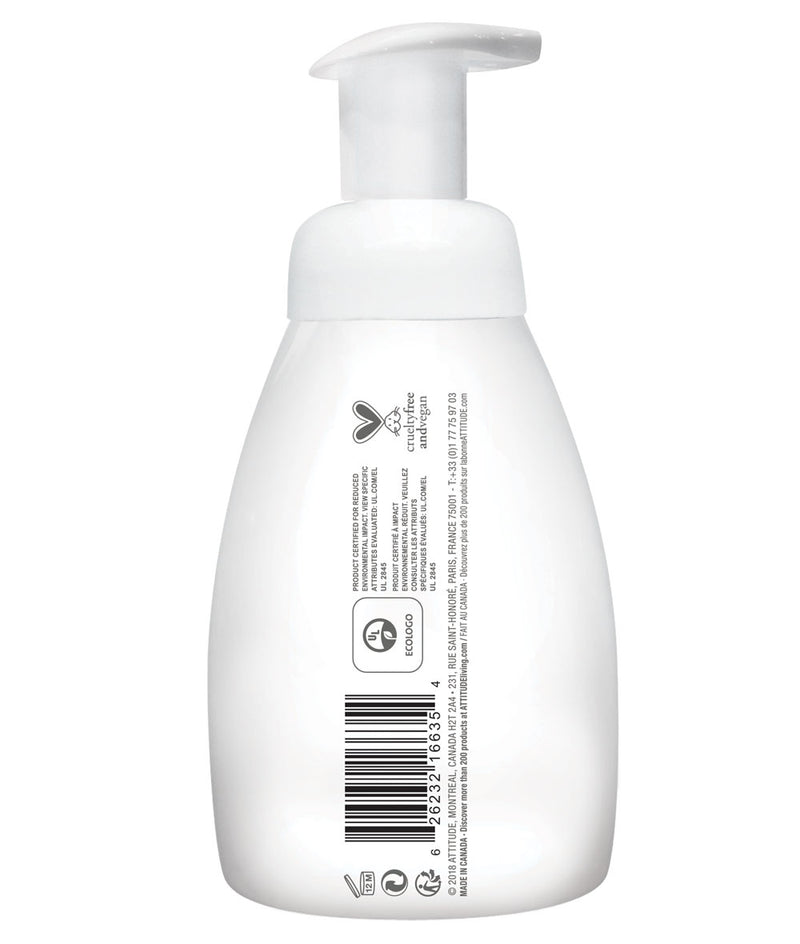 ATTITUDE baby leaves™ 2-in-1 Hair and Body Foaming Wash Fragrance-free _en?_side?