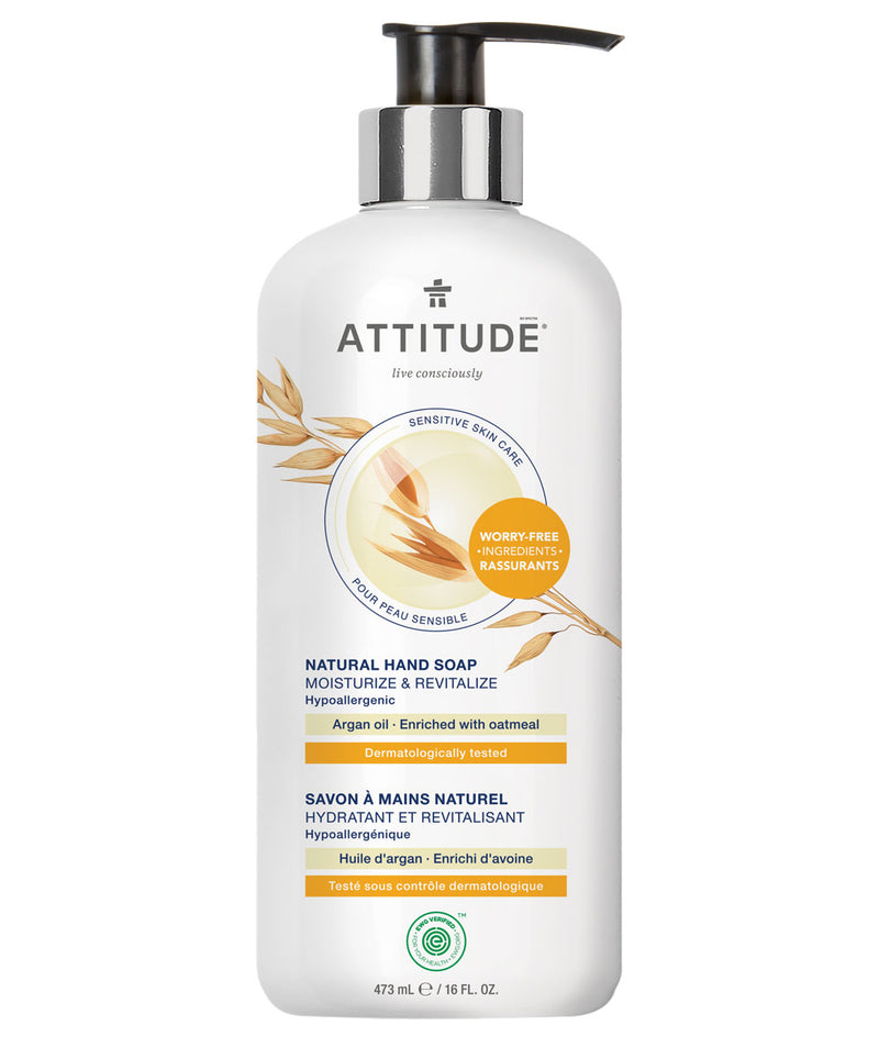 ATTITUDE Sensitive skin Moisturize & Revitalize Hand Soap Argan oil _en?_main?