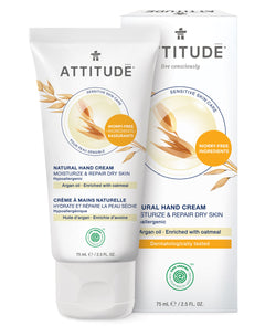 ATTITUDE Sensitive skin Moisturize & Repair Dry Skin Hand Cream Argan oil _en?_main?