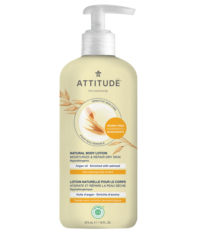 ATTITUDE Sensitive skin Moisturize & Repair Dry Skin Body Lotion Argan oil _en?_main?
