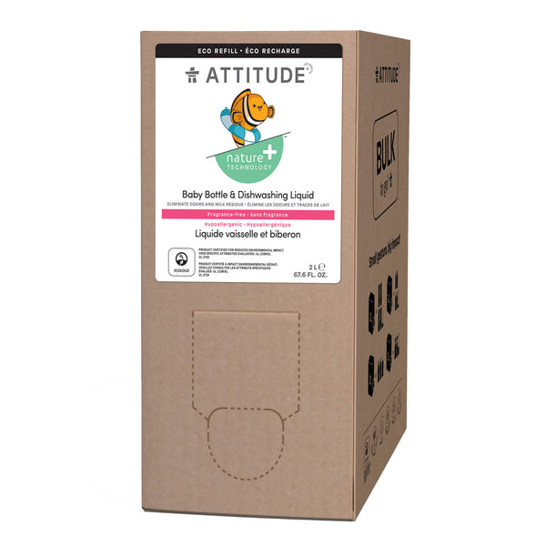 ATTITUDE Nature+ Fragrance-Free Baby Bottle & Dishwashing Liquid in Eco-refill format_en?_main?