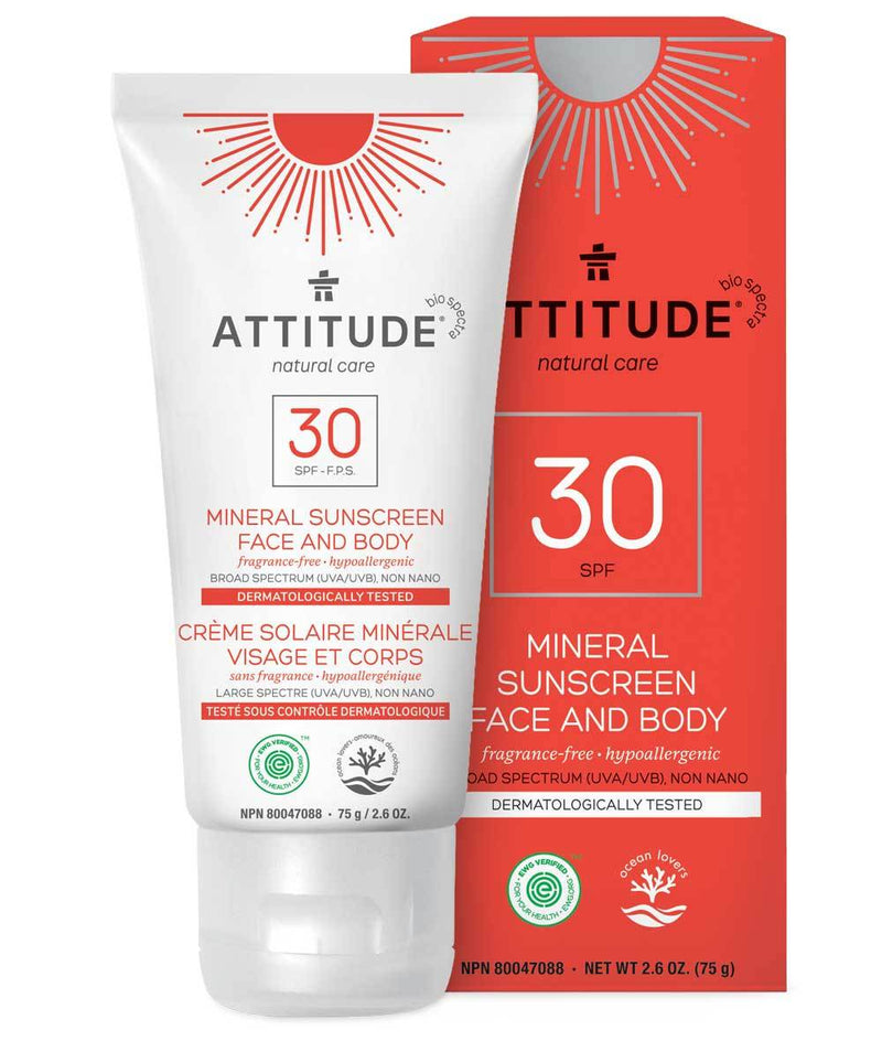 ATTITUDE Fragrance free Face Mineral Sunscreen SPF 30 2.6 OZ _en?_main?