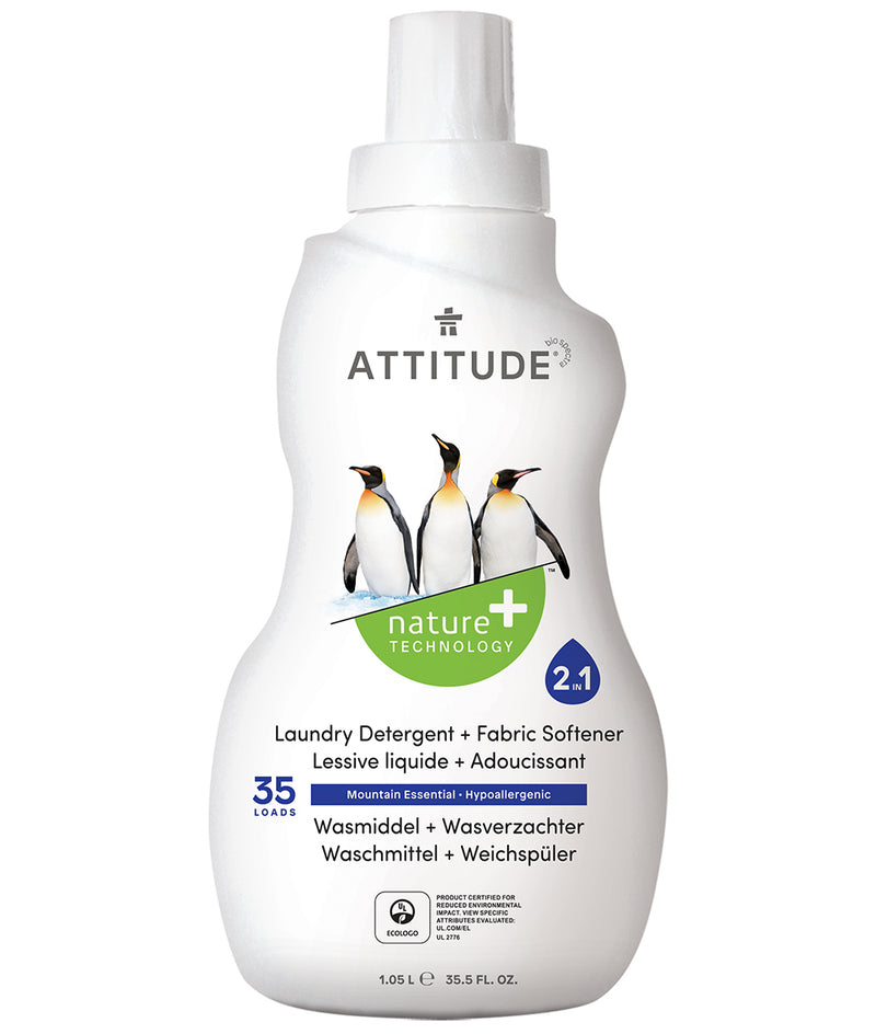 42340 ATTITUDE 2 in 1 Laundry Detergent & Fabric Softener : Mountain Essentials _en?_main?