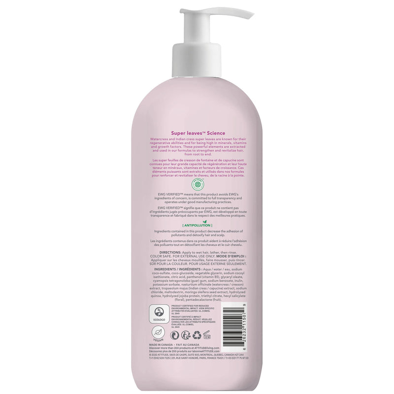 ATTITUDE Super leaves™ Shampoo 11507 Moisture Rich Restores and protects, adds shine _en?_back?