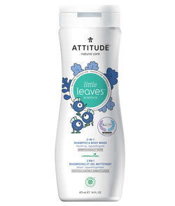 ATTITUDE little leaves™ Shampoo and Body Wash 2-in-1 for kids Blueberry _en?_main?