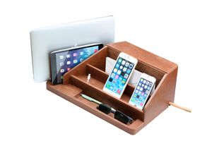 Premium Leather All-in-One Charging Station
