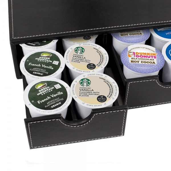 Coffee & Tea Caddy and Organizers - 3-Drawer Organizing Tray